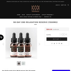 Buy Pure CBD Oil Drops in USA – Royalty Extracts