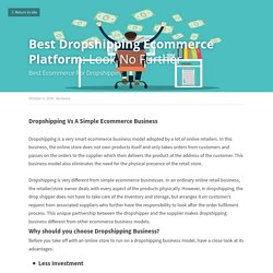 Best Dropshipping Ecommerce Platform: Look No Further - Business