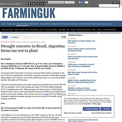 Drought concerns in Brazil; Argentina farms too wet to plant