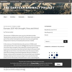 Europe, 1137 AD: Drought, fires and thirst – The Dantean Anomaly Project