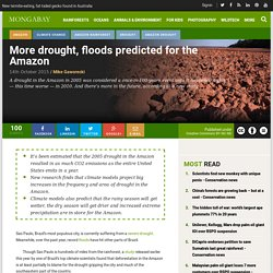 More drought, floods predicted for the Amazon - Conservation news