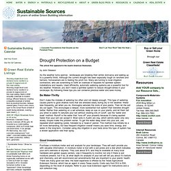 Drought Protection on a Budget « Sustainable Sources