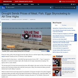 Drought Sends Prices of Meat, Fish, Eggs Skyrocketing to All-Time Highs - weather.com Cracked: San Joaquin Valley Sinking Due to Drought