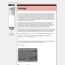 s homepage - musagi