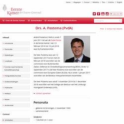 Eerste Kamer der Staten-Generaal - Drs. A. Postema (PvdA)