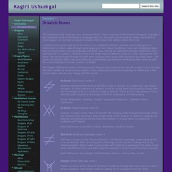 Druatch Runes - Kagiri Ushumgal