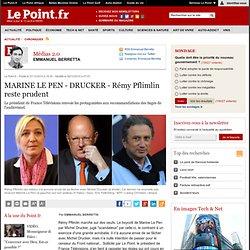Le Pen versus Drucker : Rémy Pflimlin rappelle la règle du CSA, actualité Médias 2.0 : Le Point