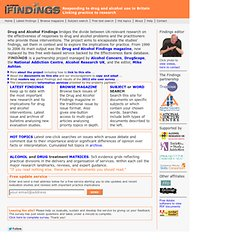 Drug and Alcohol Findings home page