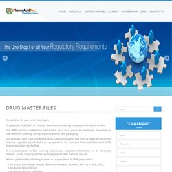 Drug Master Files - Pharma