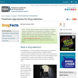 DrugFacts: Treatment Approaches for Drug Addiction