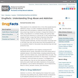 DrugFacts: Understanding Drug Abuse and Addiction