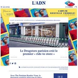 Le drugstore parisien détourner les trottinettes pour créér un ride-to-store