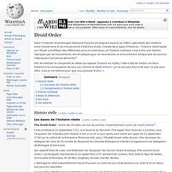 Druid Order/ Wikipedia