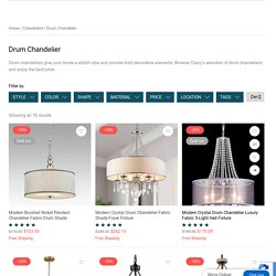 A Drum Chandelier That Adds Flare to Your House