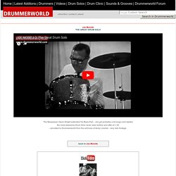 DRUMMERWORLD's Jazz Legends: Joe Morello