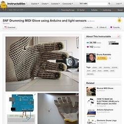 SNF Drumming MIDI Glove using Arduino and light sensors