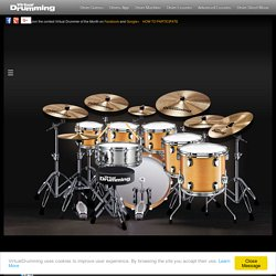 Drumming Game - Virtual Drumming: drum lessons free, latin jazz, pc keyboard games, pedal kick and rock drumset
