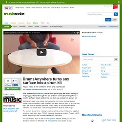 DrumsAnywhere turns any surface into a drum kit