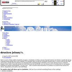 drunken johnny's. - Vox