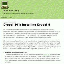 Drupal 101: Installing Drupal 8