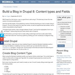 Build a Blog in Drupal 8: Content types and Fields