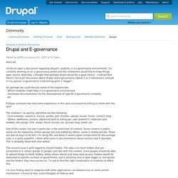 Drupal and E-governance