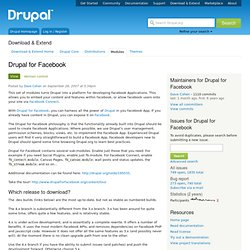 DFF Drupal for Facebook (project page)