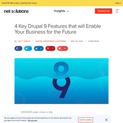 4 Key Drupal 9 Features that will Enable Your Business for the Future
