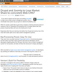 Drupal and Joomla to Lose Market Share to concrete5 Web CMS?