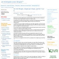 Un site Drupal, étape par étape, partie 1 sur 6