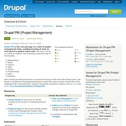 Drupal PM (Project Management)