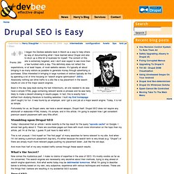 Drupal SEO is Easy