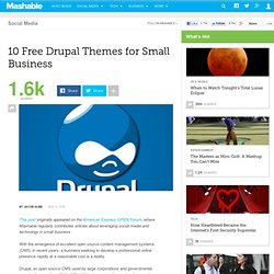 10 Free Drupal Themes for Small Business