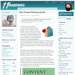 New Drupal theming e-book