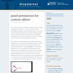 drupalpress panel permissions for content editors