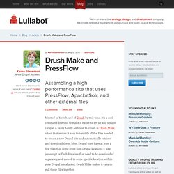 Drush Make and PressFlow