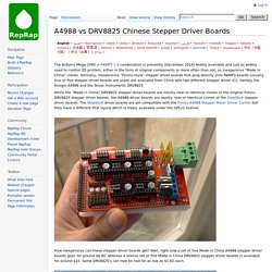 A4988 vs DRV8825 Chinese Stepper Driver Boards