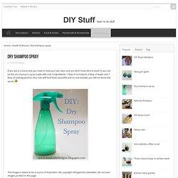 Dry shampoo spray