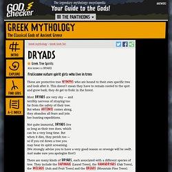 DRYADS - the Greek Spirits of Trees (Greek mythology)