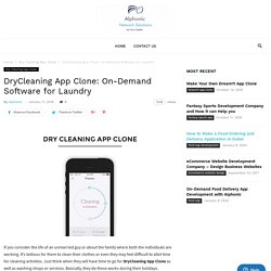 Dry Cleaning clone script