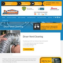 Dryer Vent Cleaning Service by Advanced Pro Air