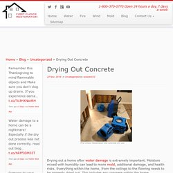 Drying Out Concrete