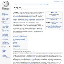 Drying oil