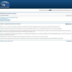 PARLEMENT EUROPEEN - Réponse à question E-009772-16 L'organisme Dryocosmus kuriphilus