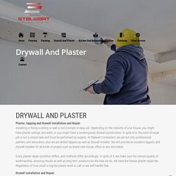 Tapping or Plaster Contractors or Companies