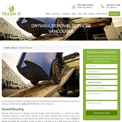 Drywall Removal Services Vancouver