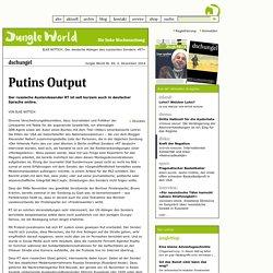49/2014 - Dschungel - Der deutsche Ableger des russischen Senders »RT«