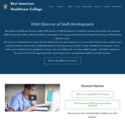 DSD Director of Staff Development