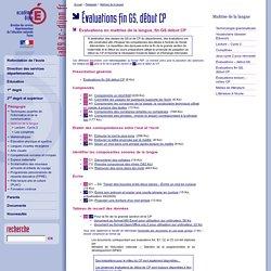 DSDEN 89 - Évaluations fin GS, début CP