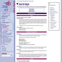 Lecture - C2 - Jeux de langue
